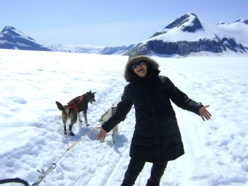 Sou eu no Alasca vivenciando um glacial